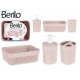 3 piece set pink bathroom plastic stick