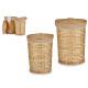 Set mit 2 runden Schränken aus natürlichem Korbgef