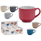 breakfast bowl 570ml embossed stitch, 6 times asso