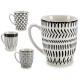black porcelain cup, 4 times assorted Models