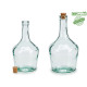 750ml glass carafe bottle cap corch