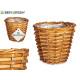 wicker basket with round handles