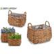 set 2 baskets w / rectangular shape