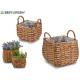 set 2 baskets w / square shape
