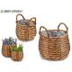 set 2 baskets w / round shape