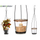 conical candle holder with metal holder
