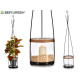 cylinder candle holder with metal support