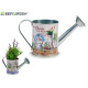 botanical watering can metal planter, 2 times asso