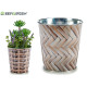 small round metal planter wicker, 2 times south