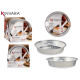 set of 6 round aluminum trays