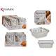set of 10 aluminum deep tray with small lid
