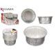 set of 10 round aluminum flan molds