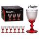 Tasse Wasser Glas Dekoration Punkte Fuß rot 24