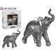 Silber großer Harz Elefant