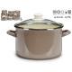 pot avec couvercle en verre 24cm gris