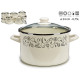 pot with glass lid 24cm vegetables