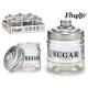 300ml metal lid sugar glass jar