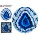 Uhrwerk blaues Marmoreffektglas 3