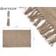 tappeto di cotone marrone 50x80cm