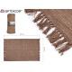 brauner Baumwollteppich 120x180cm