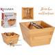 Bambusbox mit Nussknacker 16cm