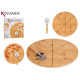 Teller Bambuspizza 35cm mit kurzer Pizza b