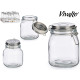 1000ml Silberdeckelglas