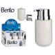 ceramic soap dispenser wide white