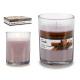 Runde Glaskerze mit Zimtduft