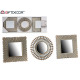 set of 3 mirrors assorted gray / gold
