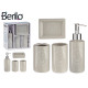 bathroom set 4 pieces ceramic spa gray