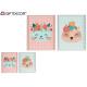 animali con fiori quadro per bambini 40x5