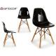 transparenter schwarzer Stuhl kirk