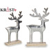 silver reindeer figure 38cm