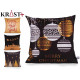 sheath Pillow christmas black and gold assorted