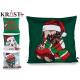 sheath Pillow Christmas green tones, 4 times assor