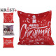 sheath Pillow Christmas red and silver tones