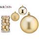 set of 20 christmas balls 8cm gold assorted
