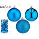 set of 20 christmas balls 8cm blue