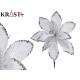 Christmas decorative flower 25cm white