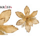 Christmas decorative flower 25cm gold