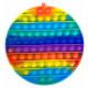 Push Pop XL - Pop it - Round Rainbow - 3 pieces