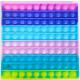 Push Pop XL - Pop it - Square Rainbow - 3 pieces