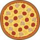 Giggle Beaver Pizza - Toalla de baño - 150x150 cm