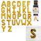 ballon aluminium lettre 35cm dore, 26-fois assorti