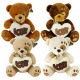 Plush Bear with Love Heart 4 assorted 20cm