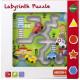 Wooden Labyrinth puzzle 30x30x5cm