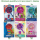 Bubbles Magic Wand Set 6 assorted in Display 16x