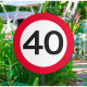 40 Years Road Sign Garden Sign 26x52cm