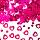 Table decoration / ornamental confetti heart pink